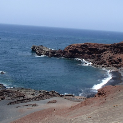 El Golfo - the view from the path viewpoint of Charco de los Clicos