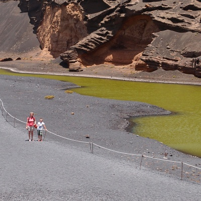 "El Golfo - Charco de los Clicos - this ""lake"" is full of green algae"