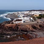 El Golfo - village view from the path to Charco de los Clicos